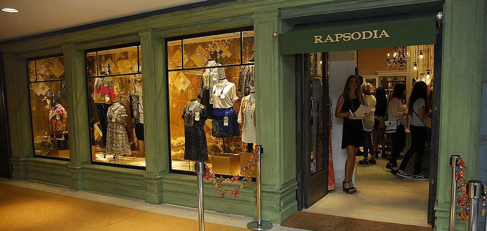 Rapsodia tienda centro comerial - Rapsodia: Marca de moda femenina planea desembarcar en Perú, Ecuador y EE.UU