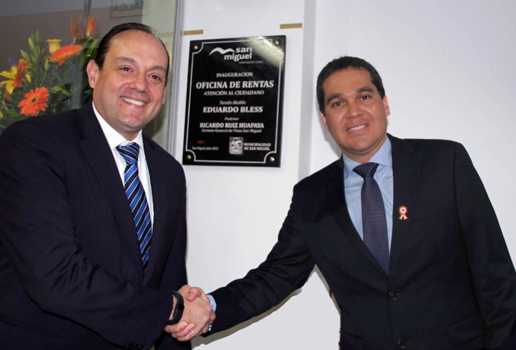 """Ricardo Ruiz y Eduardo Bless 2 - Plaza San Miguel ya cuenta con """"Oficina de Atención al Ciudadano"""""""
