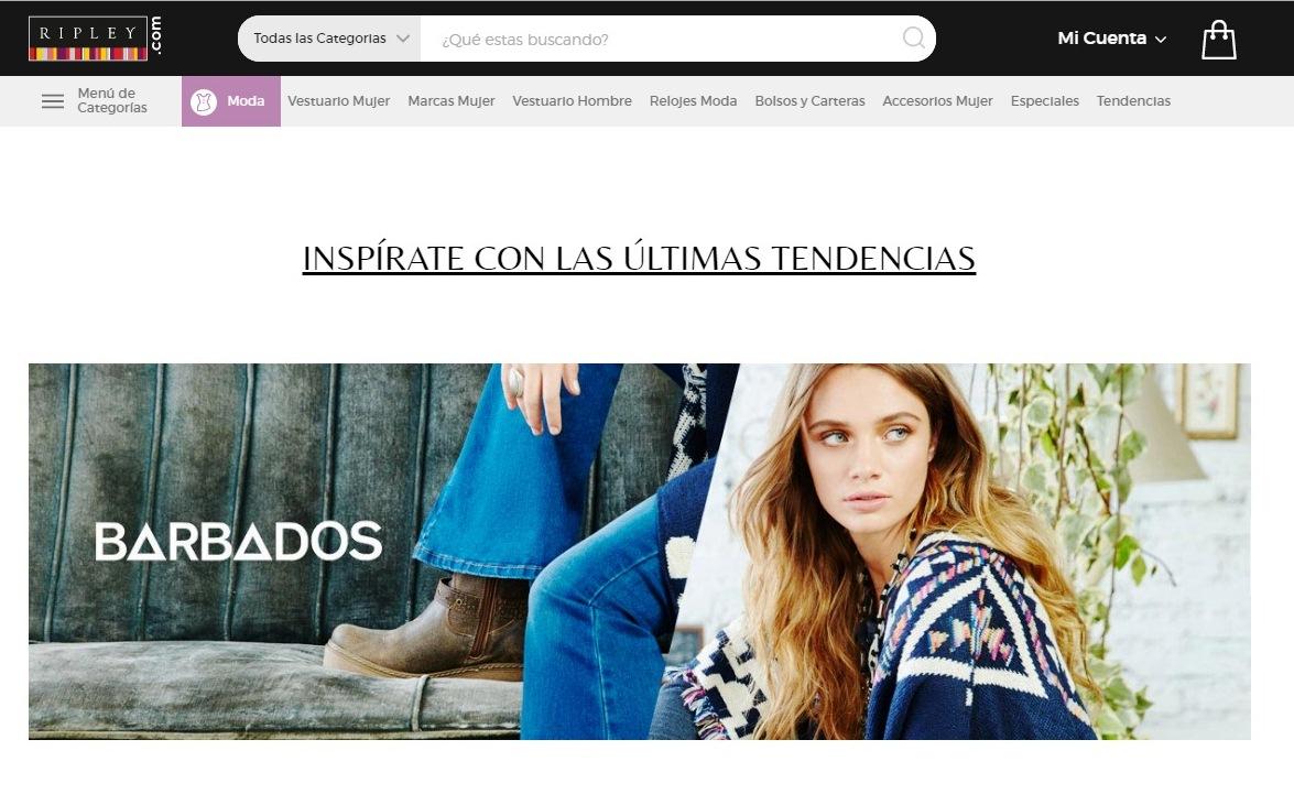 Ripley moda textil online Perú - Ripley lanzará tienda virtual de moda textil en Perú