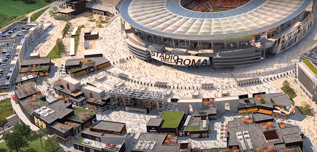 Roma Entertainment Center - Conoce el nuevo mall que unirá un estadio, hotel, tiendas y áreas de ocio en Roma