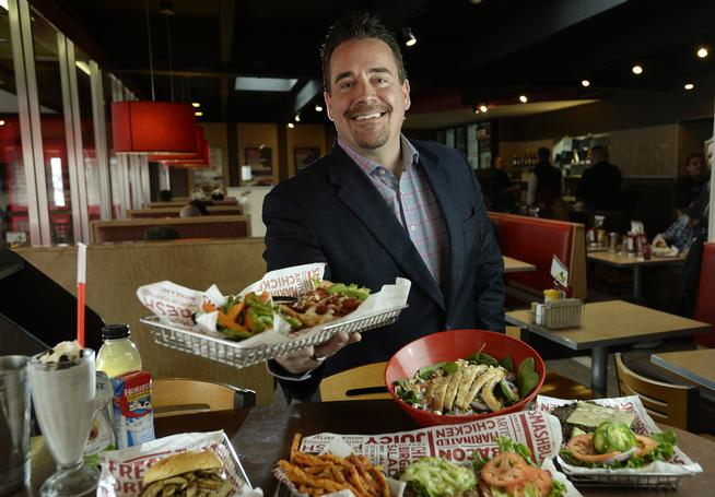 New Smashburger CEO Scott Crane at the first Smashburger location 1120 S. Colorado Blvd. in Glendale, CO.