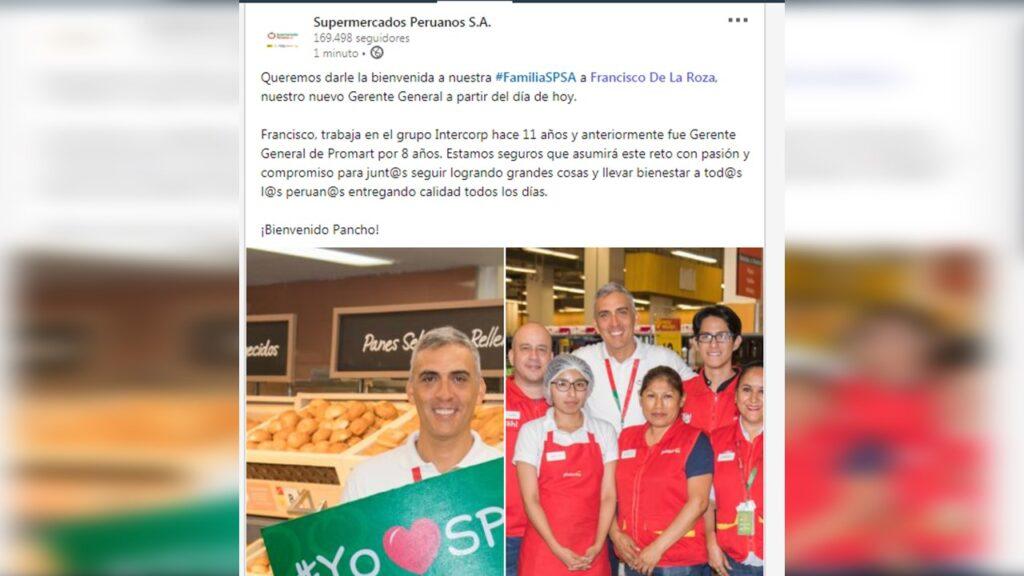 SUPERMERCADOS PERUANOS 5 1024x576 - Francisco de la Roza, el nuevo gerente general de Supermercados Peruanos