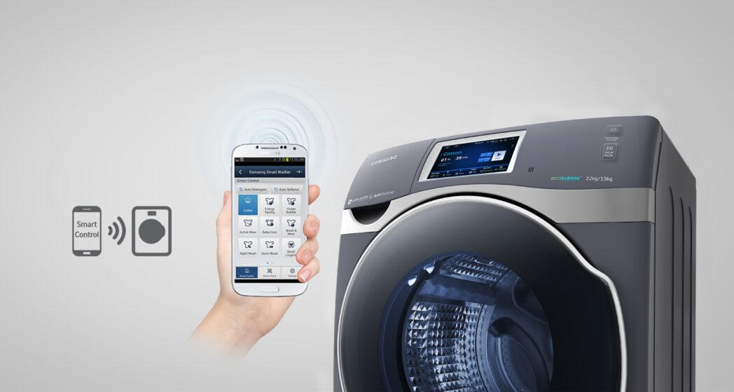 samsung lanza lavadora inteligente crystal blue peru retail. Black Bedroom Furniture Sets. Home Design Ideas