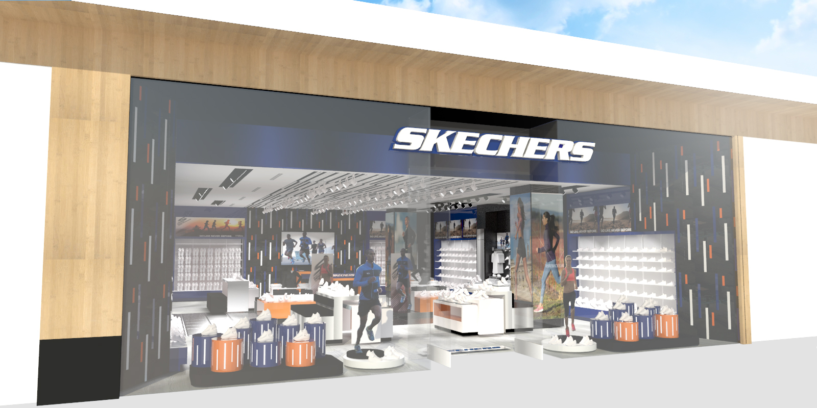 Skechers One World Trade Center Storefront - Skechers inaugura flagship store en Estados Unidos