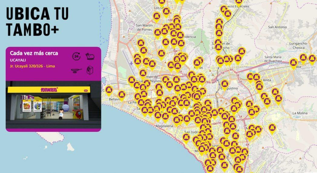 Tambo Lima - Perú: Tienda de conveniencia Tambo+ compra dominios web de Oxxo