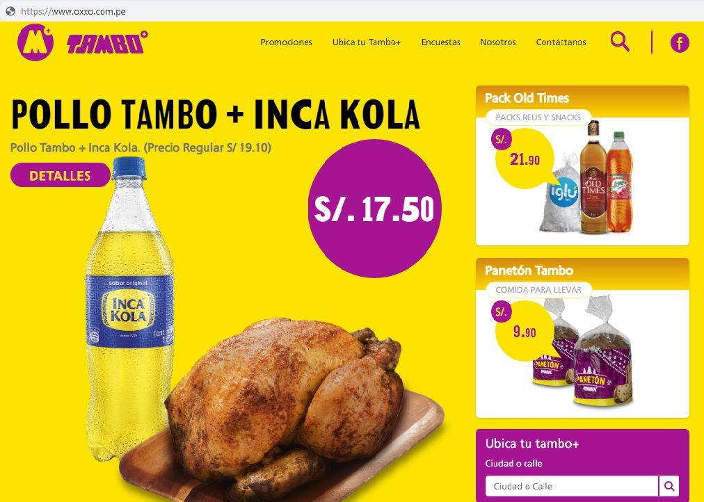 Tambo Oxxo - Perú: Tienda de conveniencia Tambo+ compra dominios web de Oxxo