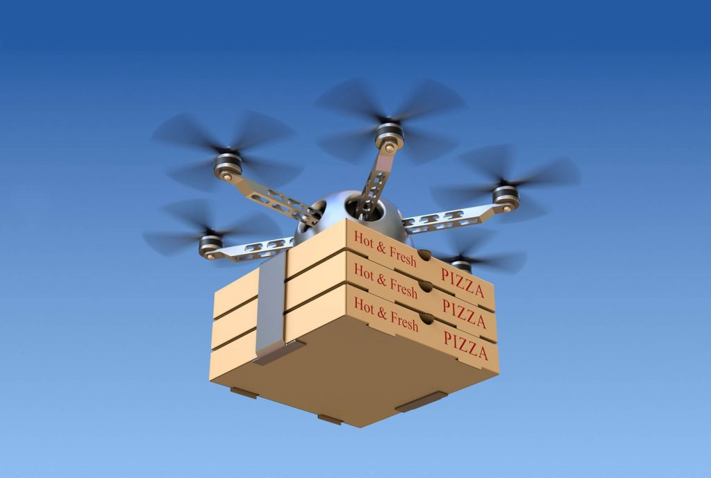 Uber eats drone 1024x689 - Conoce la app que te permite realizar compras mientras estás en el Uber
