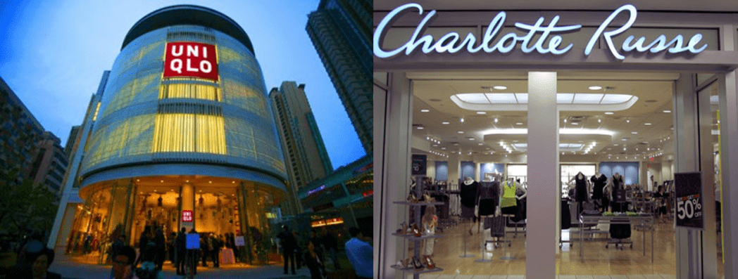 Uniqlo y Charlotte Russe