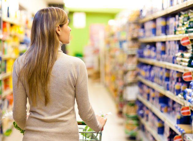 anaqueles supermercado