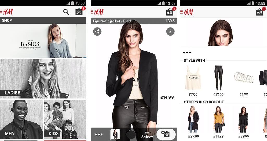 Resultado de imagen para productos escaneados H&M tienda online