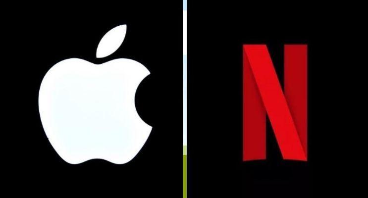 apple netflix crop - J.P Morgan recomienda a Apple comprar Netflix por más de US$180 mil millones