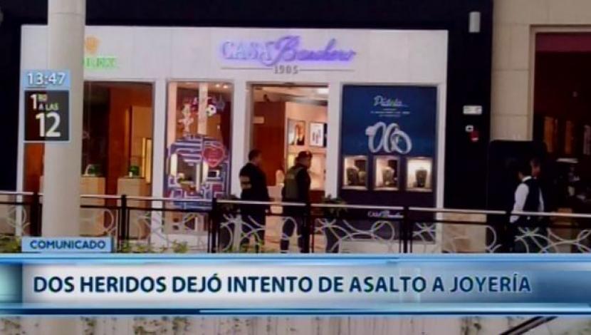 asalto casa banchero jockey plaza - Jockey Plaza: Dos policías heridos tras balacera por robo a joyería
