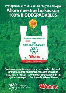 bolsas biodegradables wong perú retail - No solo es Tottus, conoce las tiendas que ofrecen bolsas biodegradables