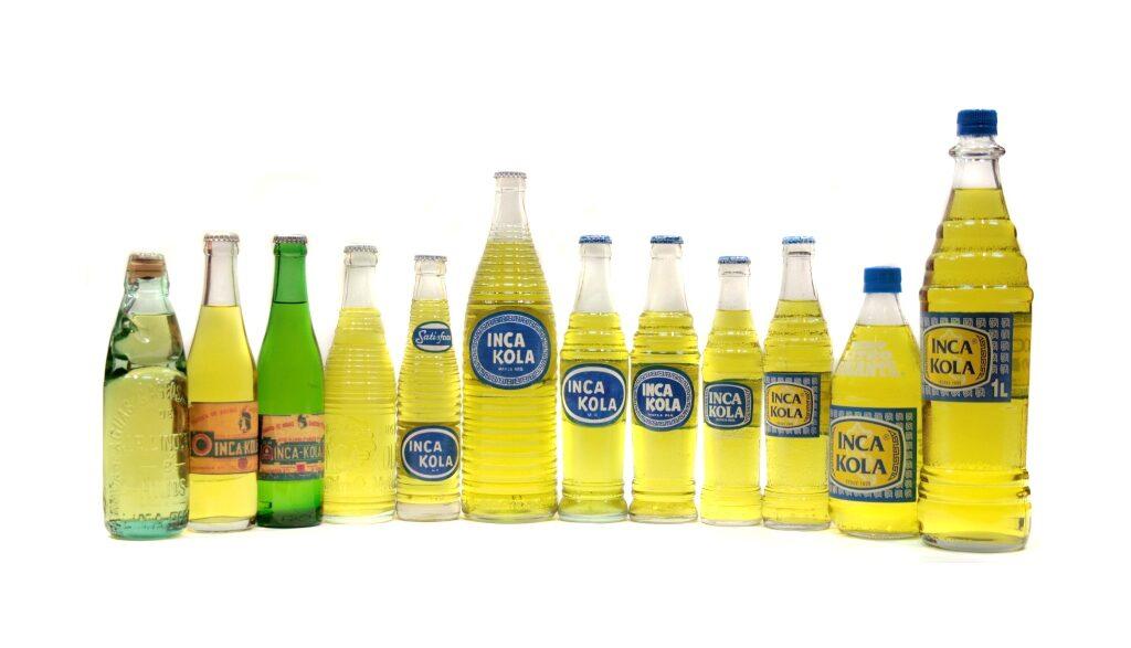 botelleas de Inca Kola
