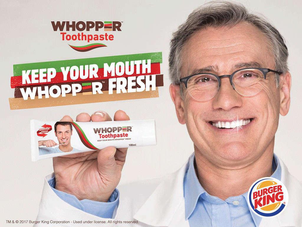 burger whopper pasta dental - Whopper Toothpaste: La innovadora pasta dental de Burger King