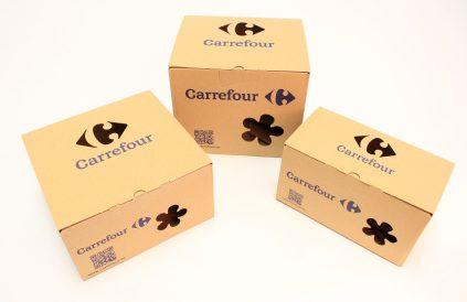 caja carrefour 2 - Carrefour es premiado por sus innovadoras cajas de envío de fruta