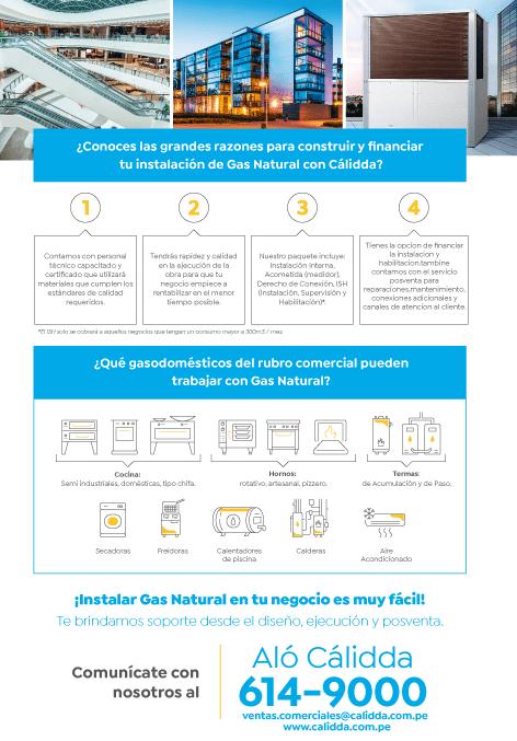 calida instalación de gas - CÁLIDDA - INSTALACIÓN DE GAS NATURAL EN UN COMERCIO O INDUSTRIA