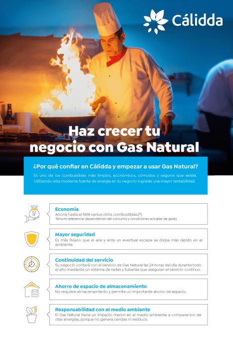 calidda gas natural - CÁLIDDA - INSTALACIÓN DE GAS NATURAL EN UN COMERCIO O INDUSTRIA