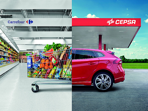 carrefour cepsa 1 - Las tiendas de conveniencia cambian la cara a las gasolineras en Europa