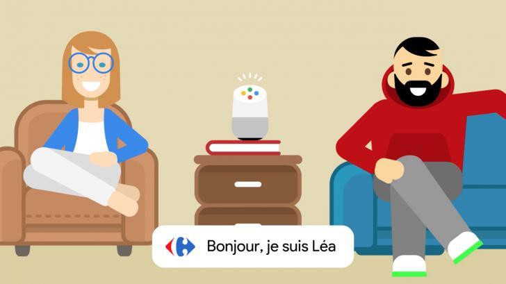 """carrefour lea - Carrefour y Google se unen para desafiar a Amazon y crearán asistente de voz """"Lea"""""""