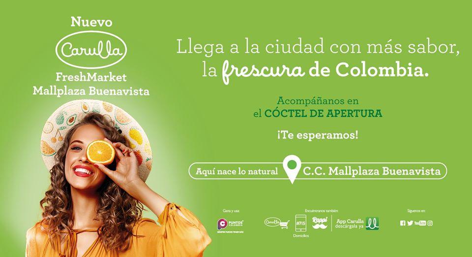 carulla colombia 1 - Colombia: Carulla FreshMarket llega al MallPlaza Buenavista