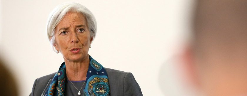 IMF Managing Director Christine Lagarde prepares to host a news conference at the Treasury, in London June 6, 2014. IMF Managing Director Christine Lagarde ruled herself out of the running for the job of European Commission president on Friday, saying she intended to complete her term in charge of the International Monetary Fund.     REUTERS/Paul Hackett ( BRITAIN - Tags: BUSINESS POLITICS) - RTR3SIAR