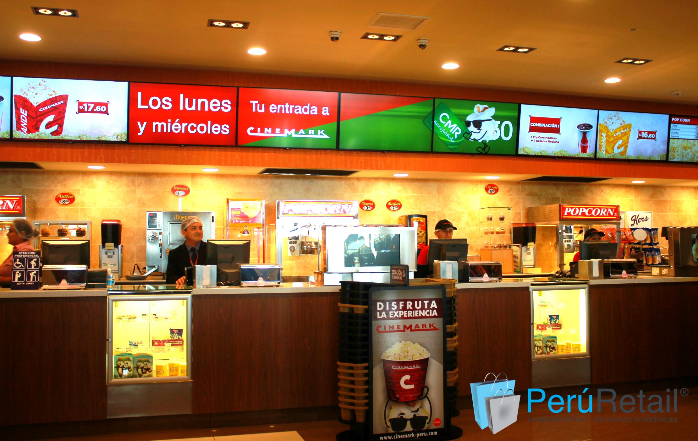cinemark 12 peru retail - ¿Cuánto representa el negocio de confitería para Cinemark y Cineplanet?