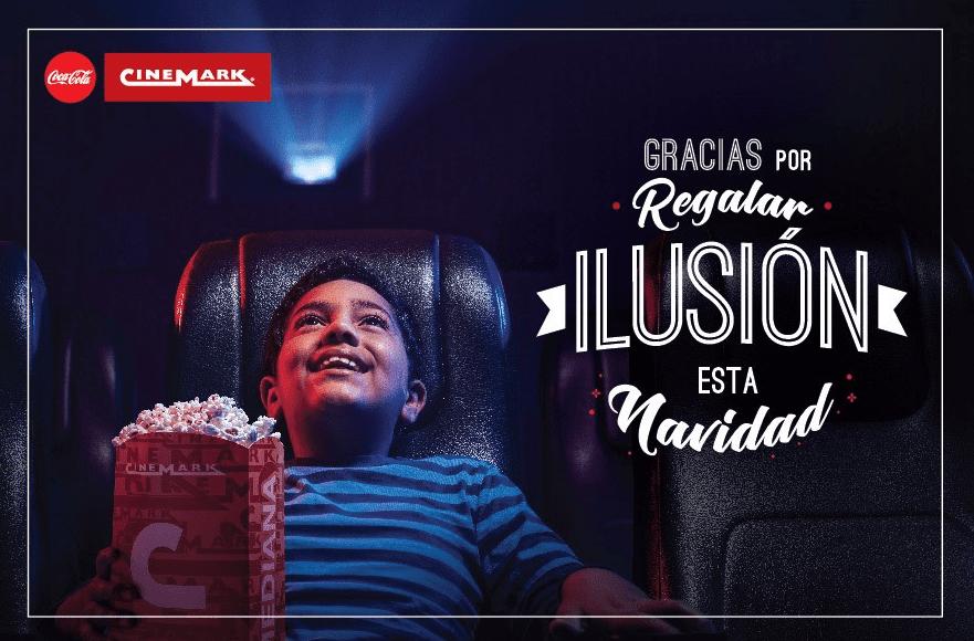 cinemark - Cinemark lanzó campaña navideña junto a Coca-Cola