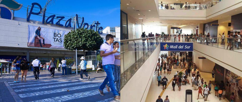 collage plaza norte mall del sur 1 - Plaza Norte y Mall del Sur facturarían más de S/ 2 mil millones de soles entre ambos en Perú
