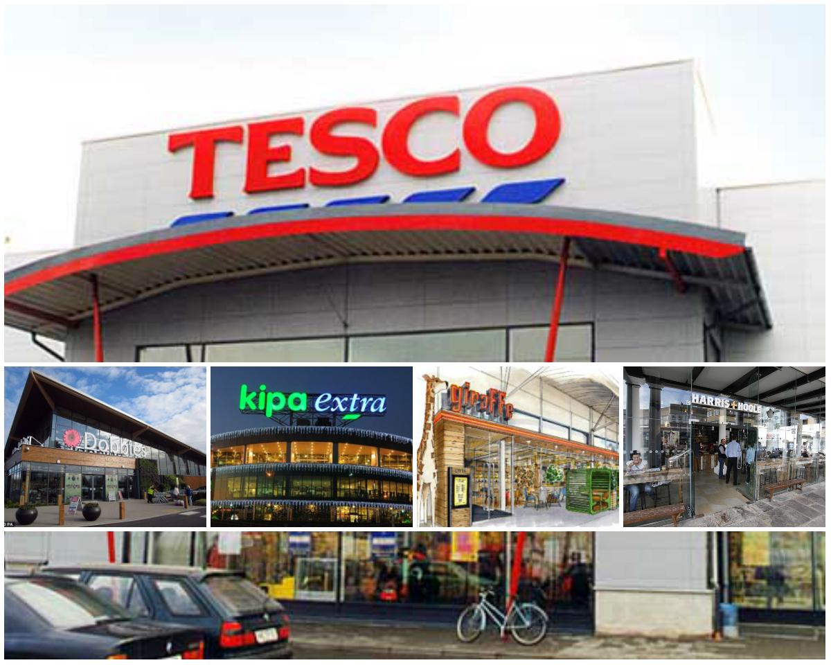 collage tesco - Tesco busca mejorar su situación financiera vendiendo activos comerciales