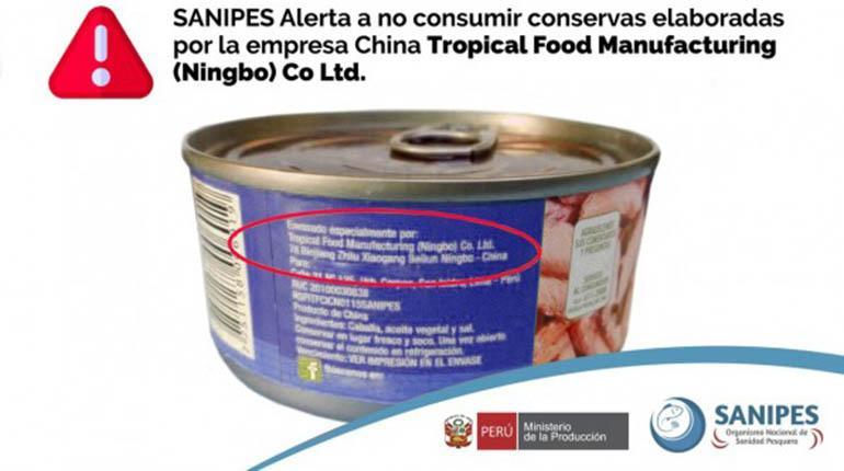 conserva de pescado sanipes - Gobierno peruano prohíbe ingreso de conservas de pescado provenientes de China