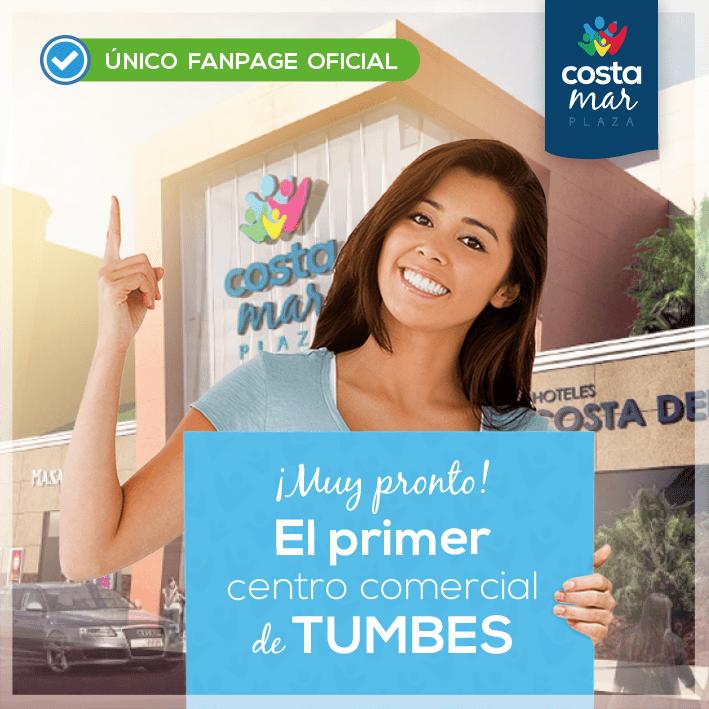 costa mar plaza tumbes - Centro comercial de Tumbes tendrá departamental, cine y supermercado