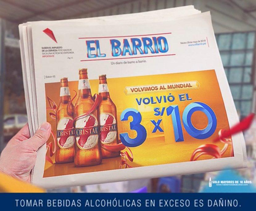 cristal 3x10 - Perú: Backus regresa la promoción 3x10 de Cristal