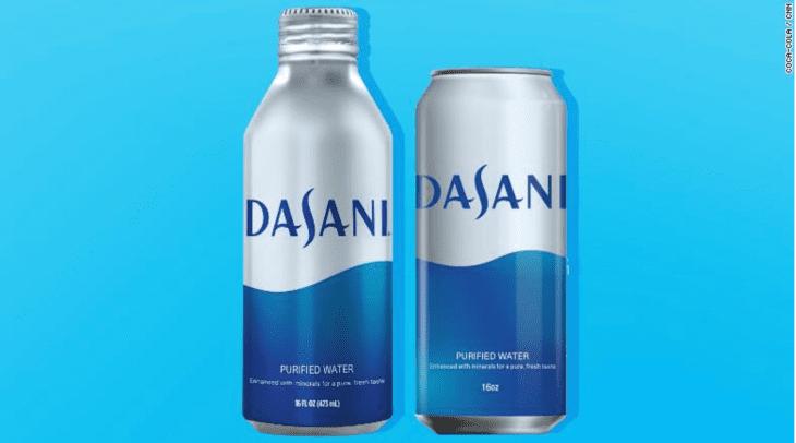 dasani lata - Coca Cola y Pepsi venderán agua en latas ante rechazo al plástico