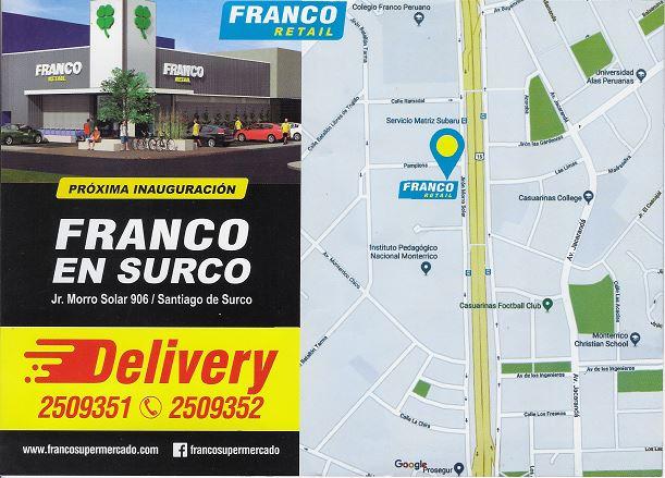 delivery Franco Retail - Perú: Supermercados Franco abre las puertas de su primer local en Surco