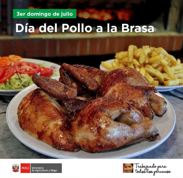 dia del pollo a la brasa minagri - Pollo a la Brasa, plato ícono de la gastronomía peruana