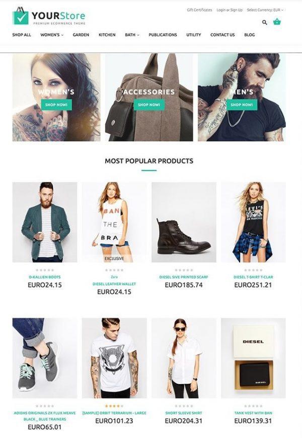 diseño tienda virtual