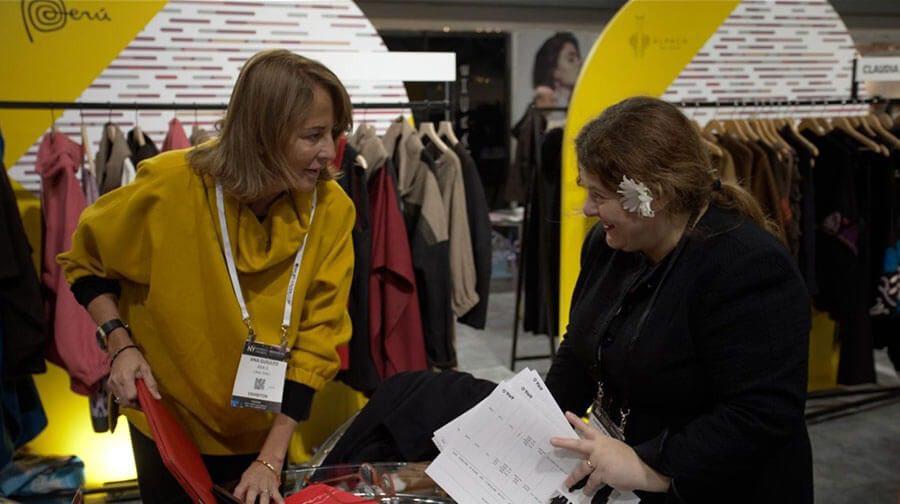 diseño peruano - Textiles peruanos se lucieron en la feria Coterie New York