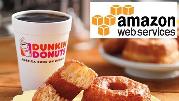 dunkin donuts y amazon - Dunkin' Donuts escoge a Amazon como proveedor de su infraestructura de nube