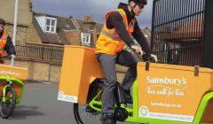 e cargo bike Sainsburys delivery SS 696x464 240x140 - Sainsbury's usa bicicletas para hacer delivery de pedidos en línea
