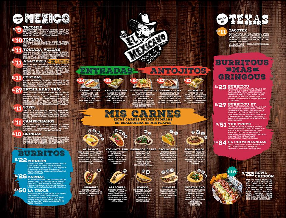 """el mexicano productos - Perú: Taquería """"El Mexicano"""" alista la apertura de su segundo restaurante en Surco"""