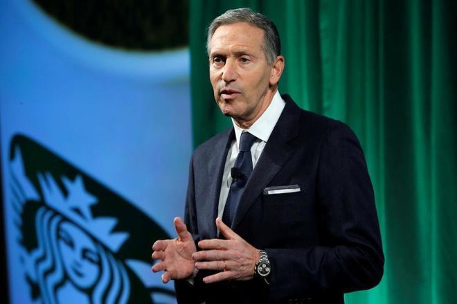 ex presidente de Starbucks - Ex-CEO de Starbucks buscará ser presidente de Estados Unidos
