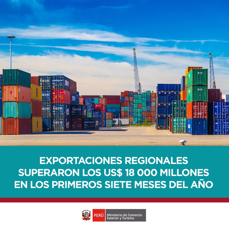 exportaciones regionales 1Q 2018