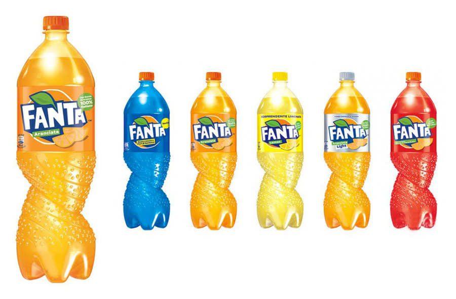 fanta nuevo logotipo botella de fanta cinco - Fanta rediseña identidad visual y packaging