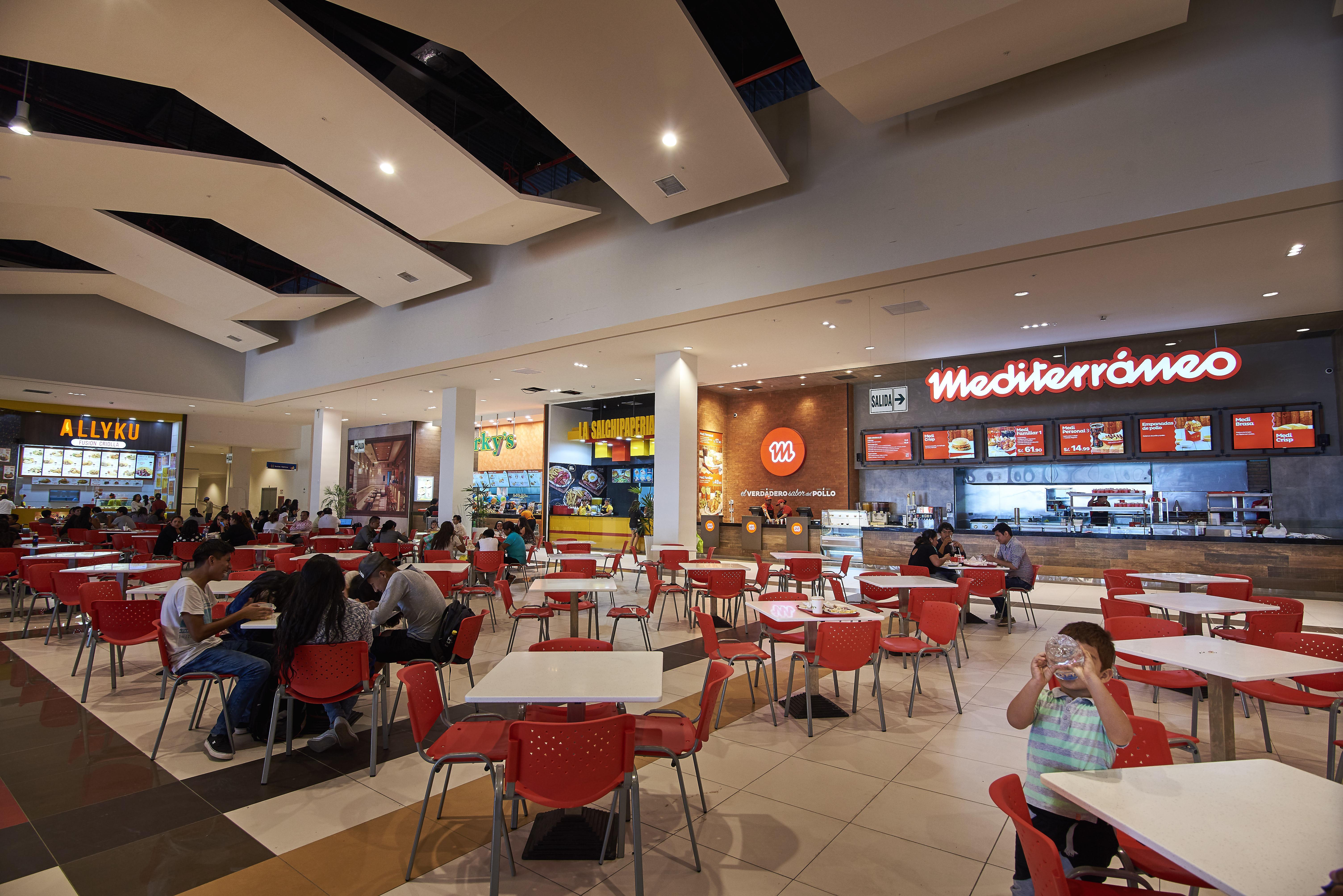 fast food mall del sur - Mall del Sur aclara posición sobre cierre de Mediterráneo