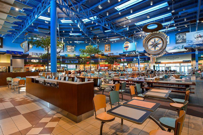 food court CrossIron Mills
