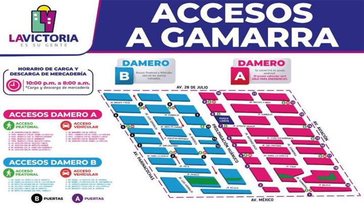 gamarra accesos - Perú: Hoy reabre Gamarra luego de permanecer 3 días cerrada