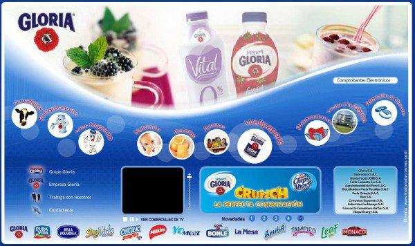 gloria productos peru