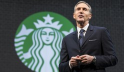SEATTLE, WA - MARCH 18:  Starbucks Chairman and CEO Howard Schultz speaks during Starbucks annual shareholders meeting March 18, 2015 in Seattle, Washington. Schultz announced a 2-for-1 stock split, the sixth in the company's history, during the meeting. (Stephen Brashear/Getty Images)