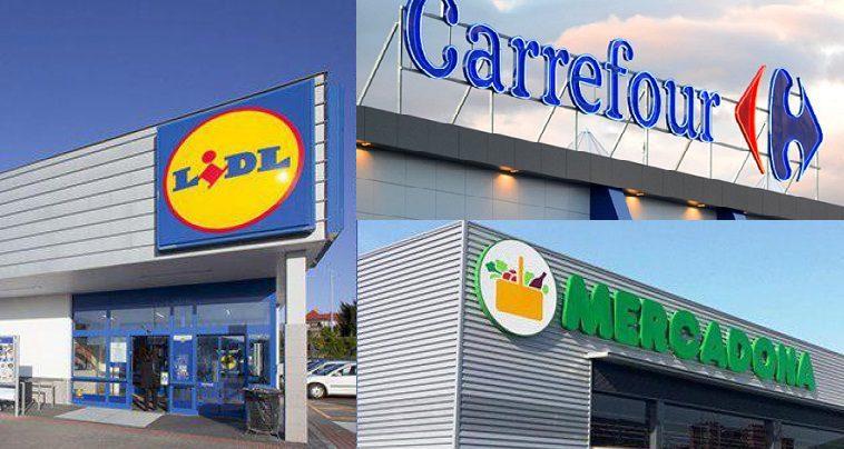 imagen de lidl y mercadona - Lidl, Carrefour y Mercadona son las cadenas más destacadas de España